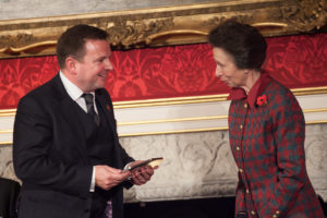 HRH Princess Anne and Julian Duffill